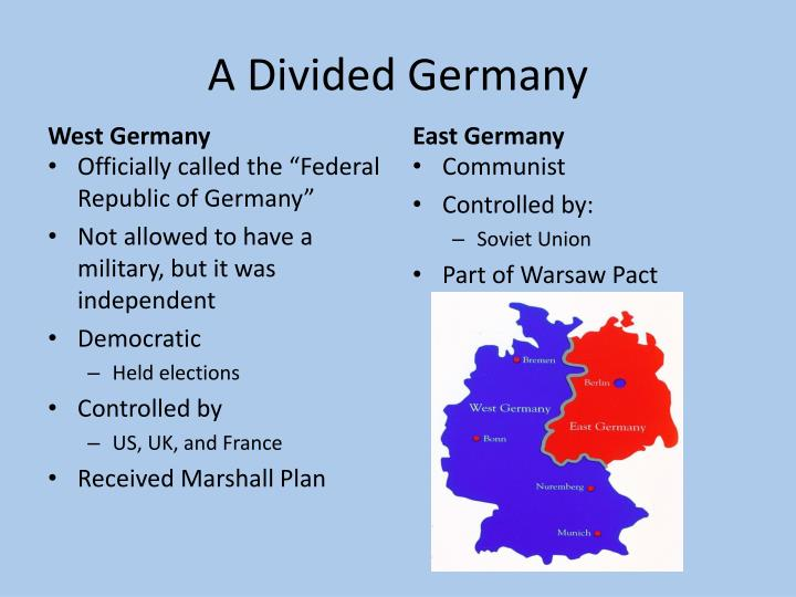 how did germany come to be a divided nation