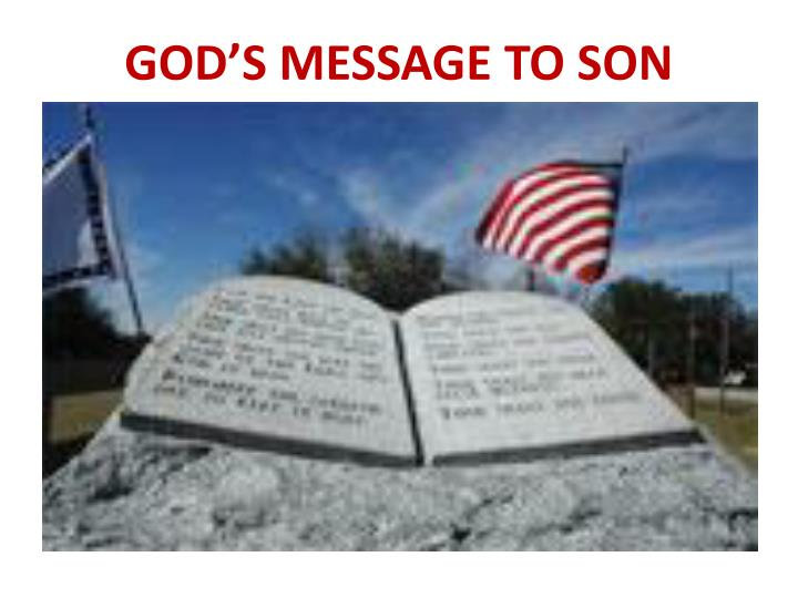 God s message to son