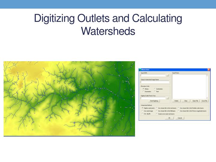 Digitizing Outlets and Calculating Watersheds