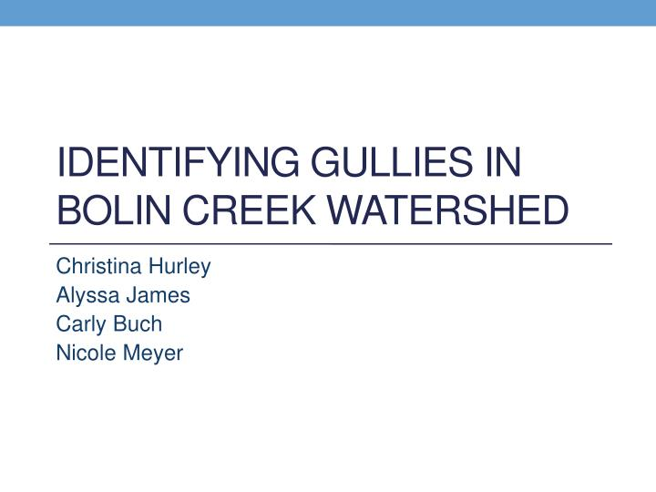 Identifying gullies in