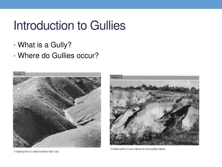 Introduction to gullies