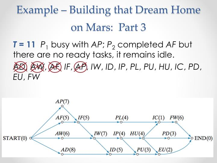 Example – Building that Dream Home on Mars:  Part 3