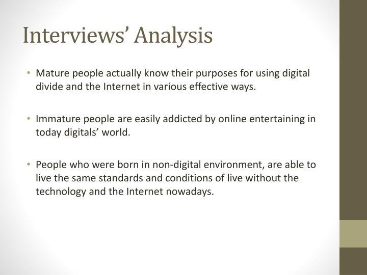 Interviews' Analysis