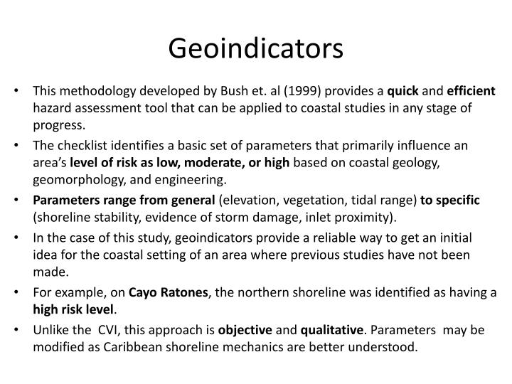 Geoindicators