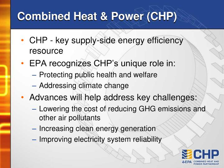 Combined heat power chp