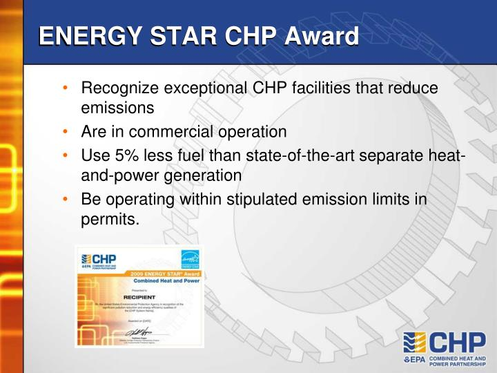 ENERGY STAR CHP Award
