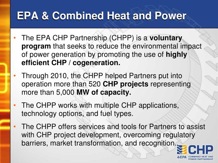 EPA & Combined Heat and Power