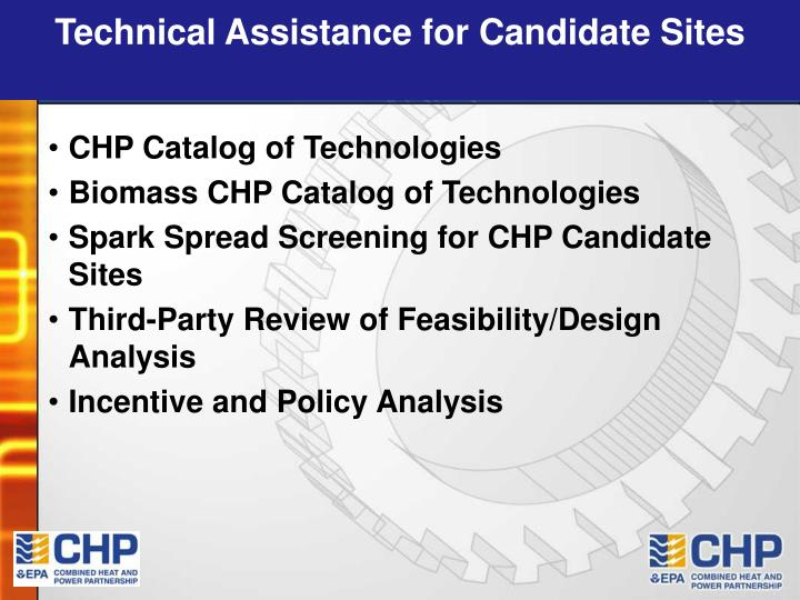 Technical Assistance for Candidate Sites