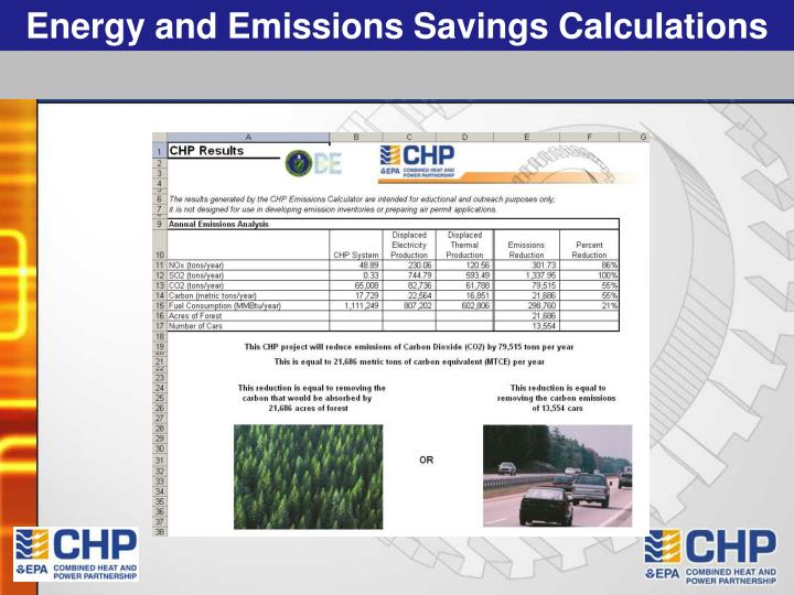 Energy and Emissions Savings Calculations