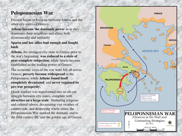 a description of the peloponnesian war as costly war for greece city state Peloponnesian, persian wars the war fought between the two leading city-states in ancient greece, athens and sparta description: the peloponnesian war.