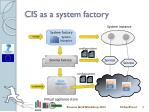 cis as a system factory