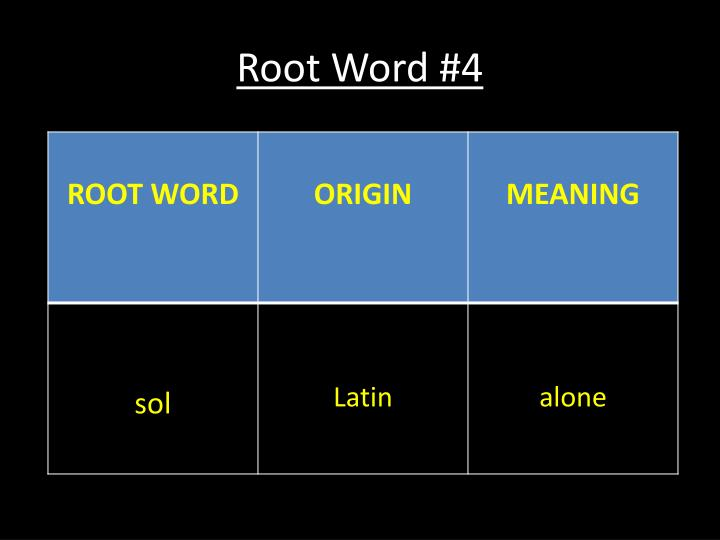 Root Word #