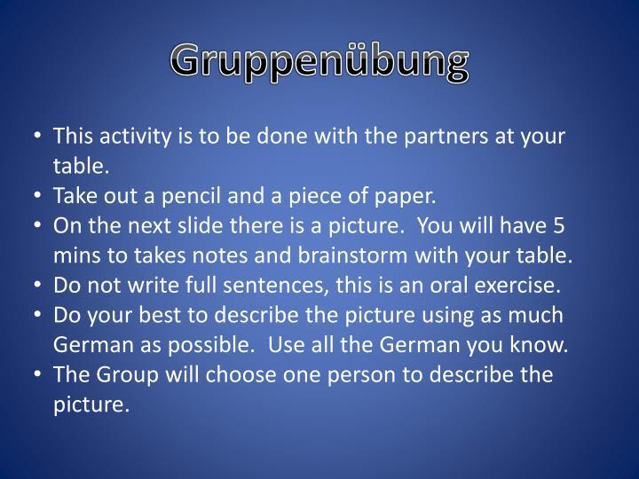Gruppenübung