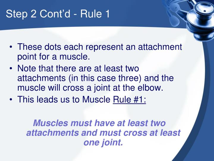 Step 2 Cont'd - Rule 1