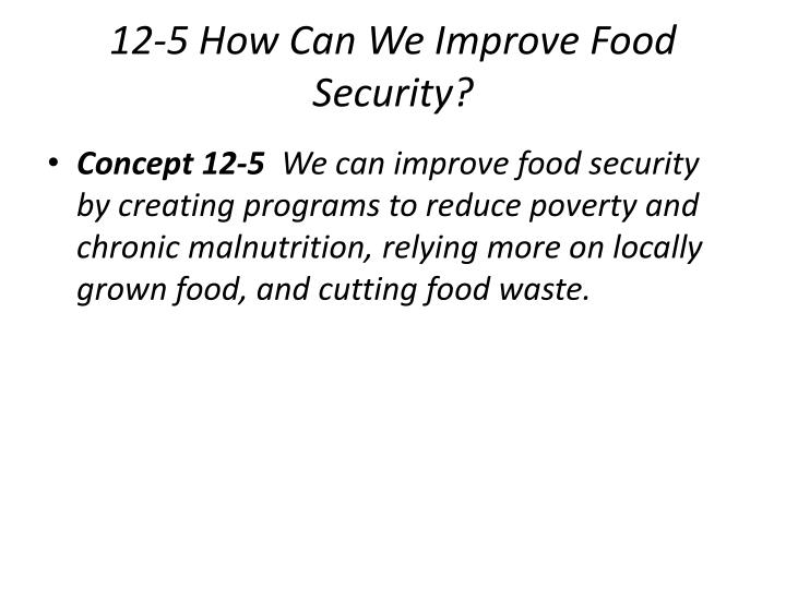 12-5 How Can We Improve Food Security?