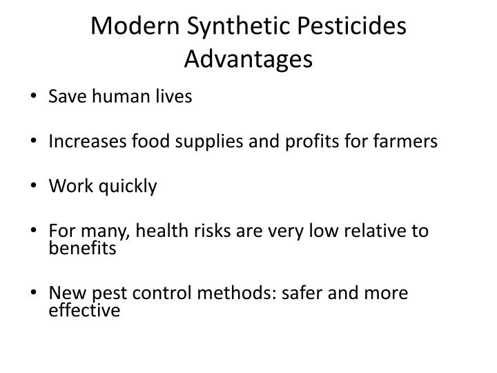 Modern Synthetic Pesticides Advantages