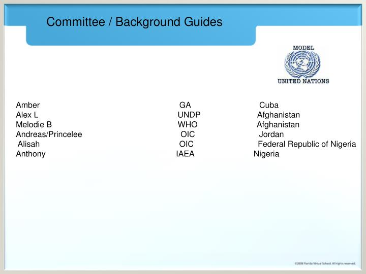 Committee / Background Guides