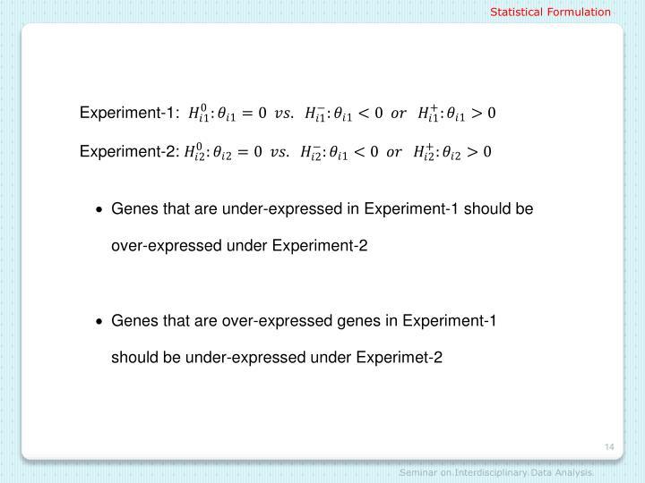 Statistical Formulation
