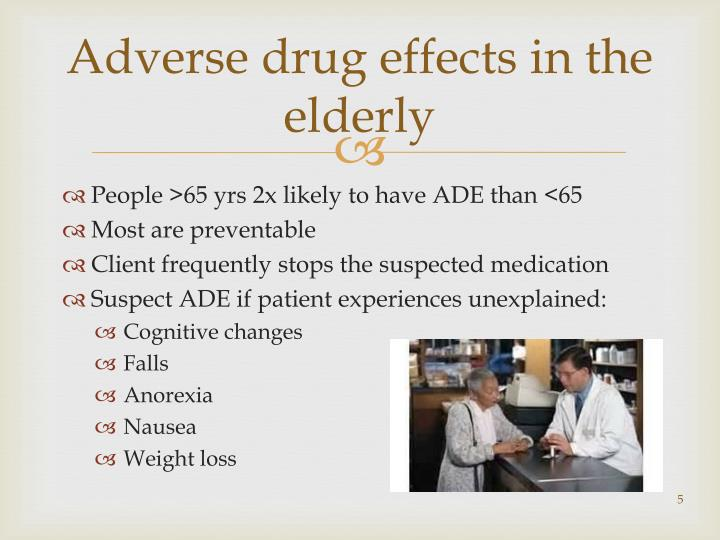 Adverse drug effects in the elderly