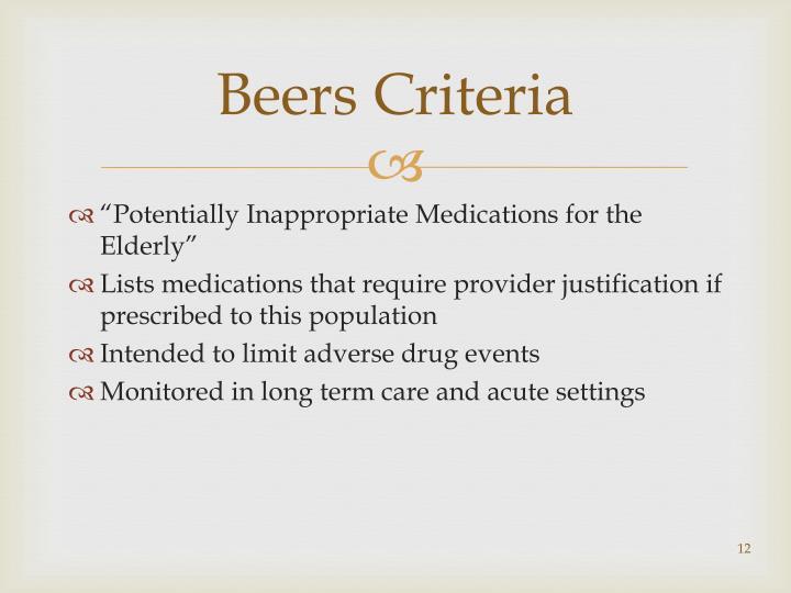 Beers Criteria