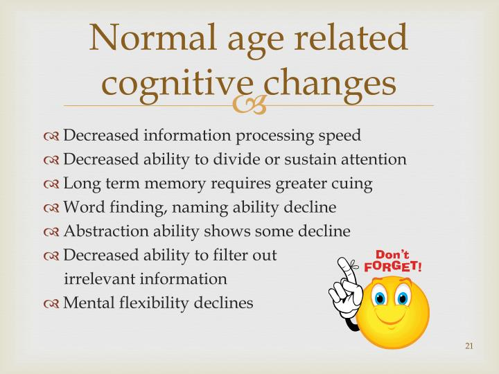 Normal age related