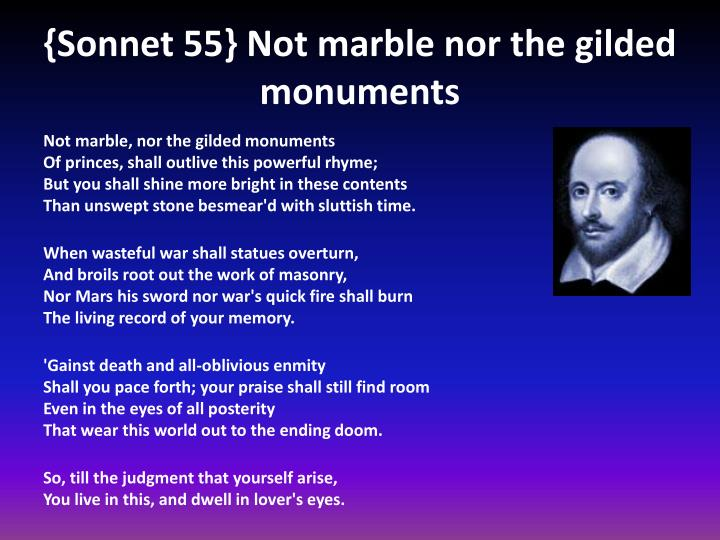Notes on shakespears sonnet 55