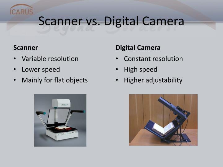 Scanner vs. Digital Camera