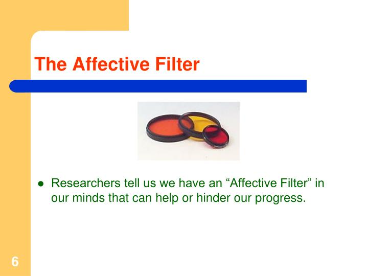 The Affective Filter