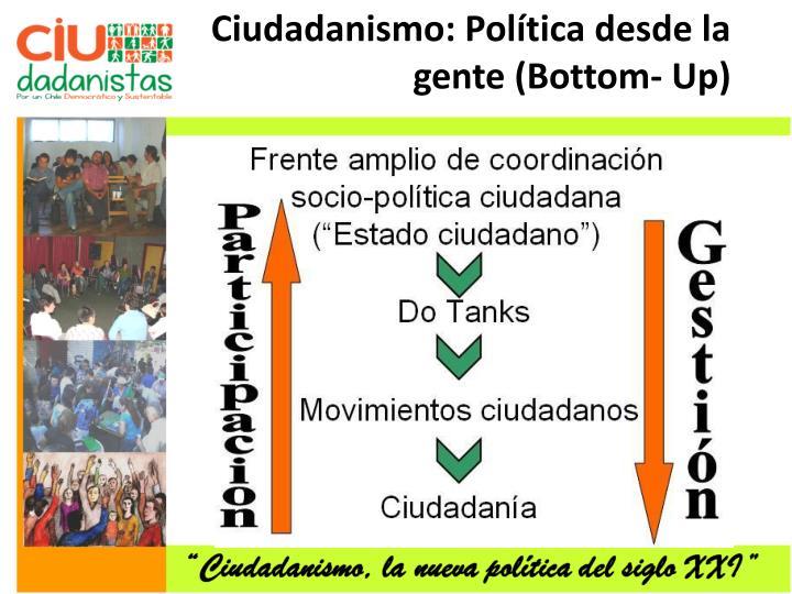 Ciudadanismo: Política desde la gente (Bottom- Up)