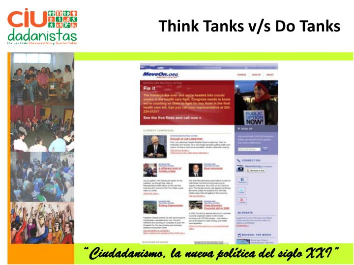 Think Tanks v/s Do Tanks