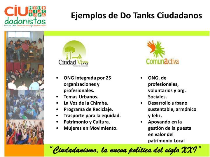 Ejemplos de Do Tanks Ciudadanos