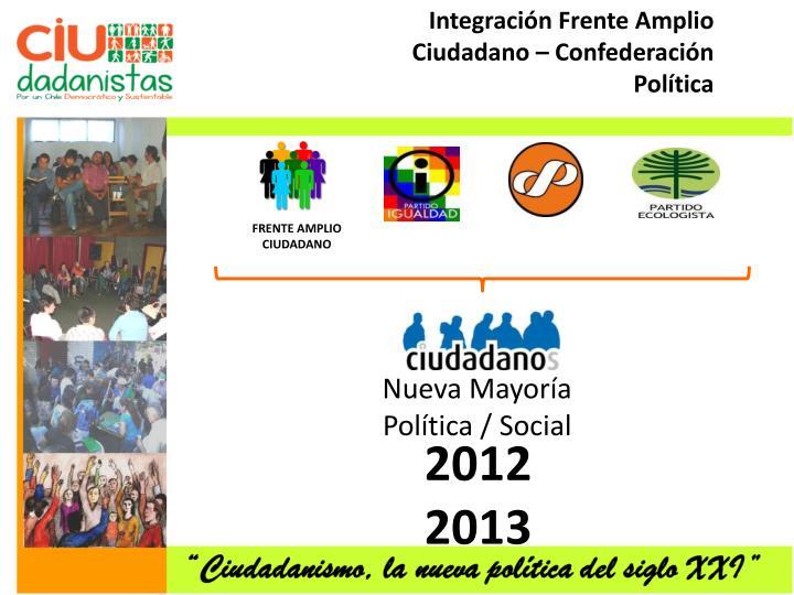 Integración Frente Amplio Ciudadano – Confederación Política