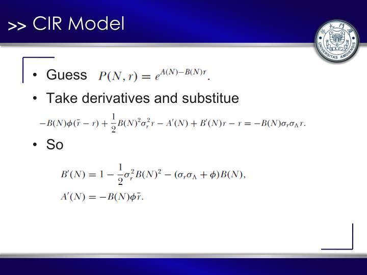 CIR Model