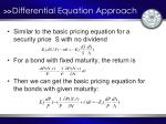 differential equation approach