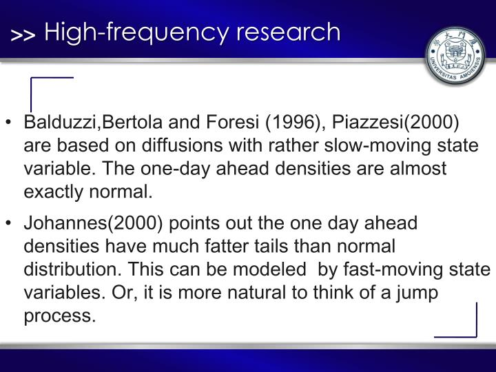 High-frequency research