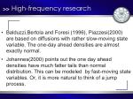 high frequency research