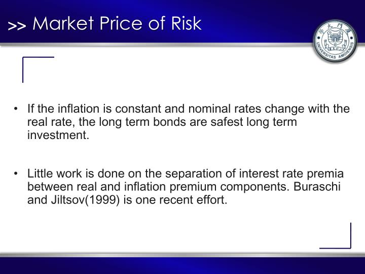 Market Price of Risk
