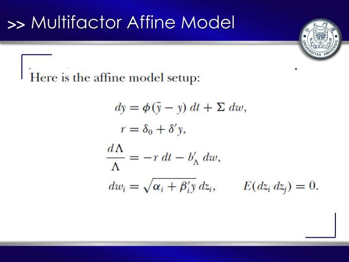 Multifactor Affine Model