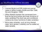 multifactor affine models