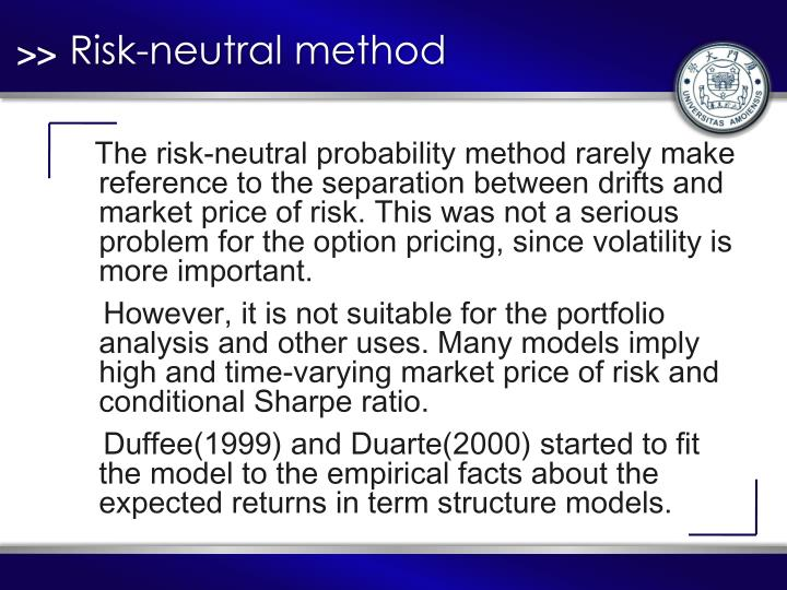 Risk-neutral method
