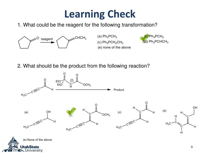 1. What could be the reagent for the following transformation?