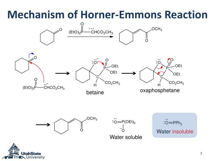 Mechanism of Horner-Emmons Reaction