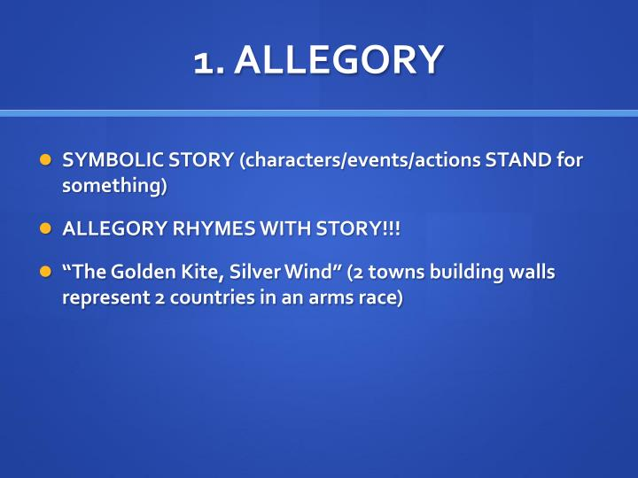 1 allegory