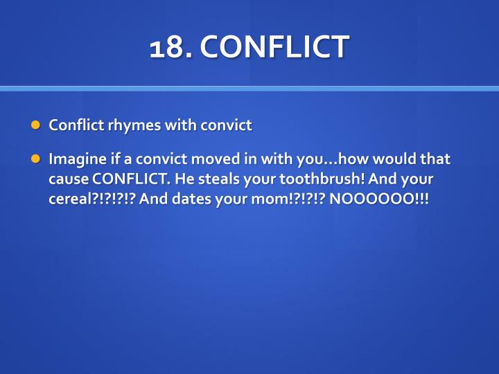 18. CONFLICT