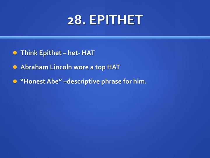 28. EPITHET