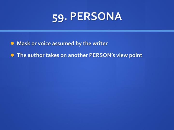 59. PERSONA