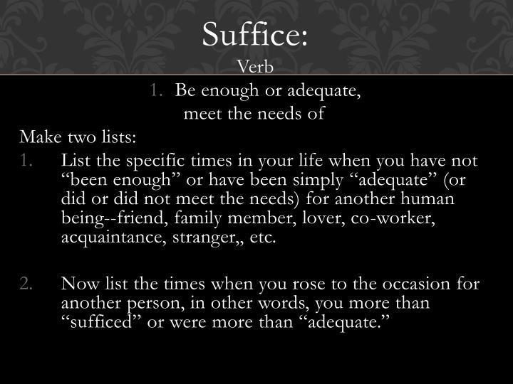 Suffice: