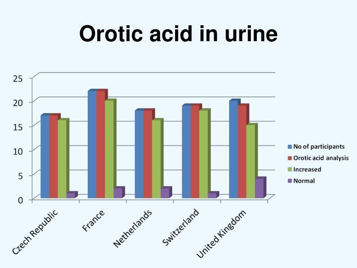 Orotic acid in urine