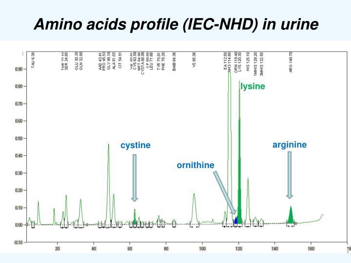 Amino acids profile (IEC-NHD) in urine