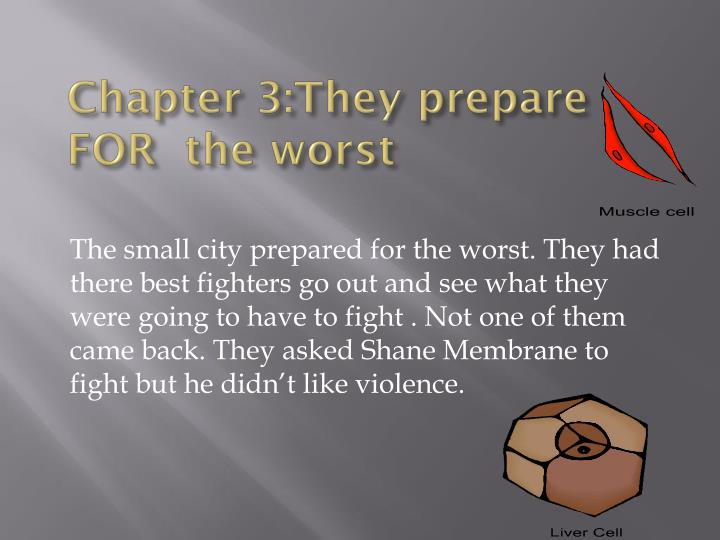 Chapter 3:They prepare FOR  the worst